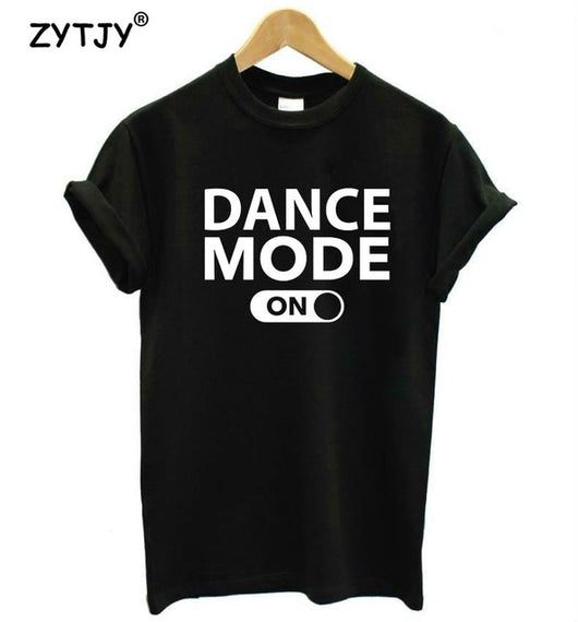 Dance Addicts dance mode black t-shirt