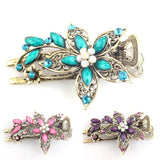 hair clip, vintage-style in purple, blue or green