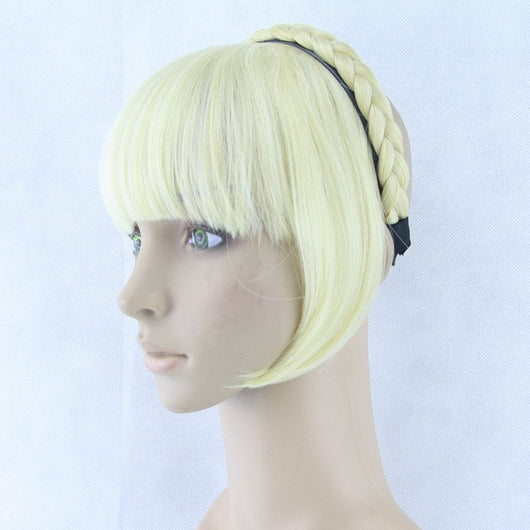 Dance Addicts Synthetic Hairpiece with Braided Hair Clip