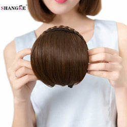 Dance Addicts Synthetic Hairpiece with Blunt Bangs and Braid