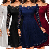 Dance Addicts Vintage-Style Lace Party Dress