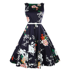 Dance Addicts Vintage-Style Floral Swing Dress