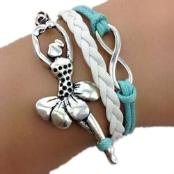 Dance Addicts Ballerina Infinity & Dancing Girl Bracelet