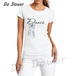 Dance Addicts Ladies White Dance T-shirt