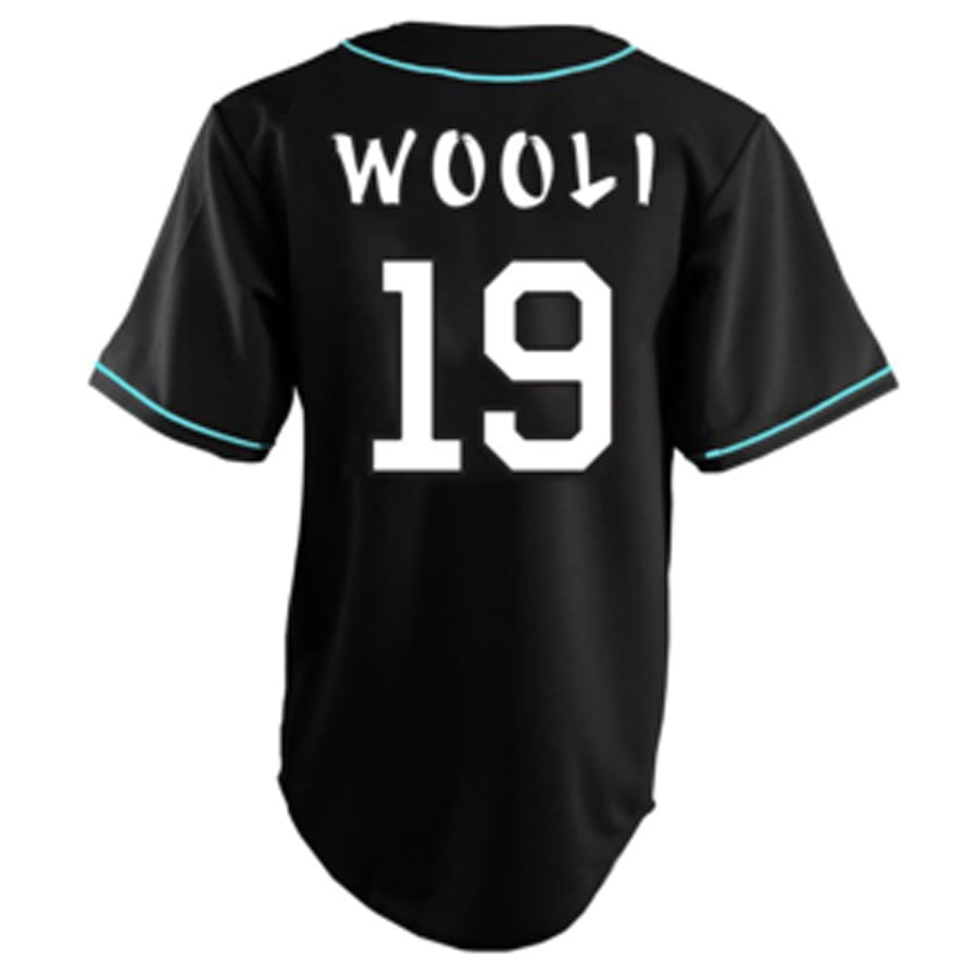 Wooli Black/Teal Jersey LTD