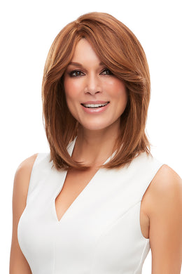 6F27 | Dark Brown with Natural Red-Gold Blonde Highlights and Tips, Jon Renau, Remi Human Hair