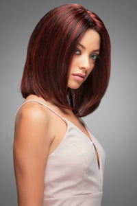 CARRIE by Jon Renau in FS2V/31V CHOCOALATE CHERRY, human hair wigs