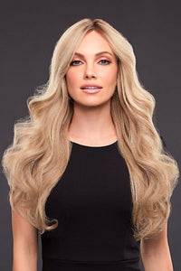 KIM Human Hair Wig by JON RENAU in 12FS8 | Medium Natural Gold Blonde, Light Gold Blonde, Pale Natural Blonde Blend, Shaded with Dark Brown, Long Remi Human Hair wig, High quality