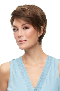 Rose by Jon Renau, smart lace, monofilament top, Synthetic hair, color 6f27, wig for alopecia, cancer, hair loss