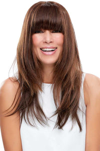 easiFringe  Remy Human Hair - Front  Clip In Bangs ( Mono Top)