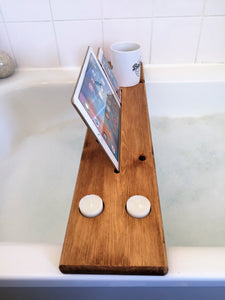 Personalised Engraved Wooden Bath Tray Caddy Medium Oak
