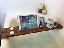 Wooden Bath Tray Caddy Walnut