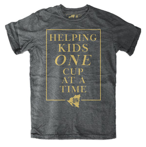 "BLC ""One Cup at a Time"" Charcoal Tee"