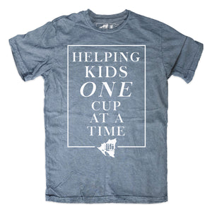 "BLC ""One Cup at a Time""  Heather Indigo Tee"