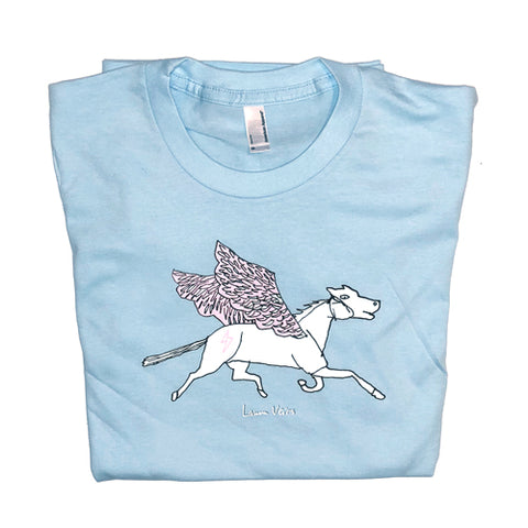 """Pegasus"" Light Blue T-shirt"