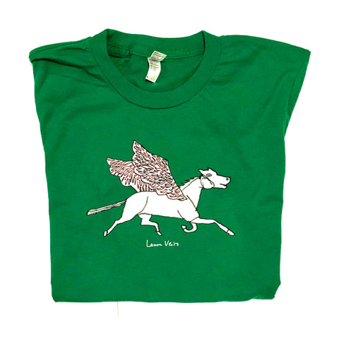 """Pegasus"" Emerald Green T-shirt"