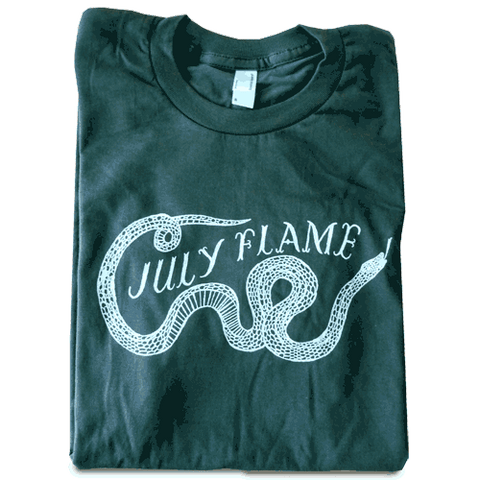 """July Flame"" Grey Womens T-Shirt"