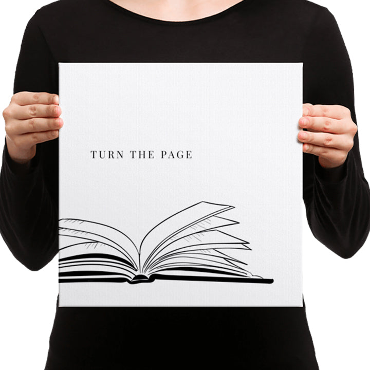 Turn The Page Canvas