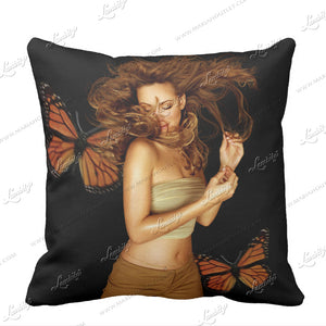 LE *Butterfly 20th Anniversary Throw Pillow