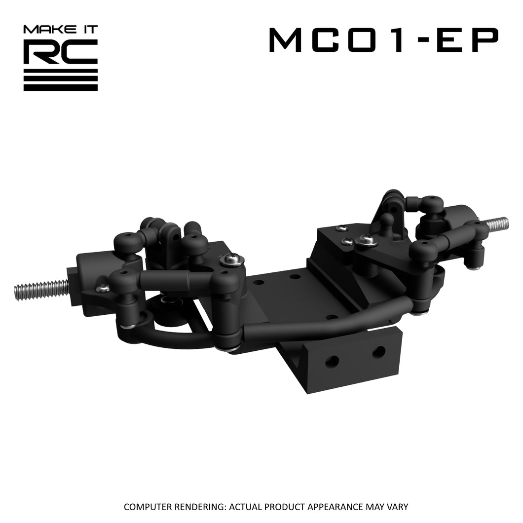 Make It RC MC01-EP Modular Front Suspension and Steering Assembly (assembled)