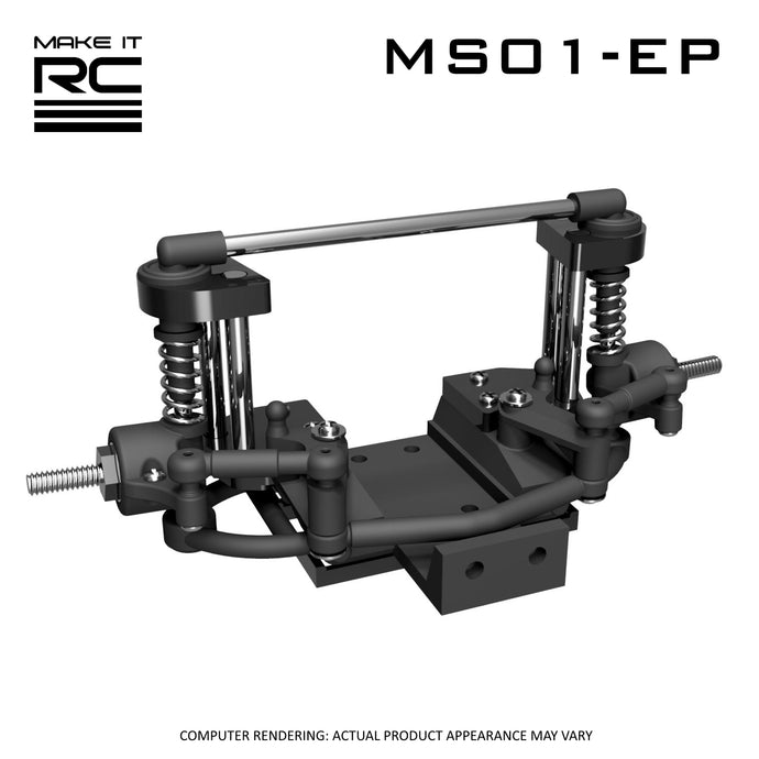 Make It RC MS01-EP Modular Front Suspension and Steering Assembly (base kit)