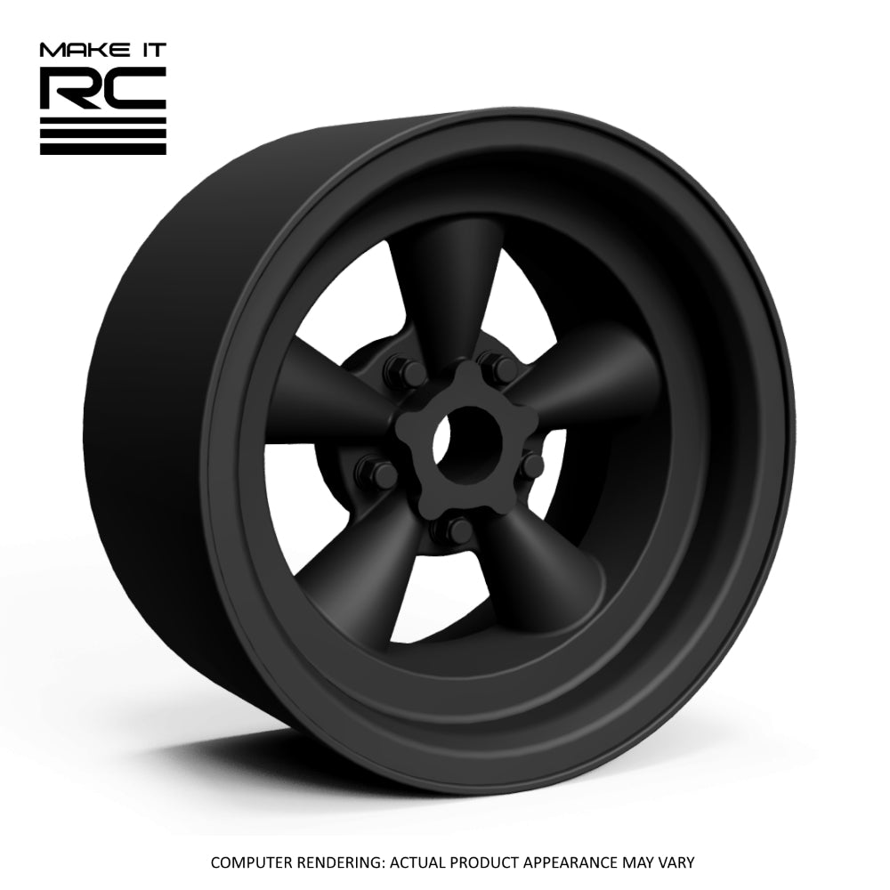 Make It RC Classic 5T 1/24.5 Scale Wheel 18x9mm M2 Shaft 4x1mm Hex OS -0.5mm BS 4mm