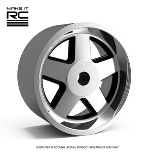 Make It RC STZ 1/24.5 Scale Wheel 19x9mm M2 Shaft 4x1mm Hex OS -1mm BS 3.5mm