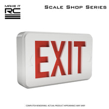 Make It RC 1/24 Scale Exit Sign