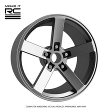Make It RC RS-5K 1/24.5 Scale Wheel 20x9mm M2 Shaft 4x1mm Hex OS -1.5mm BS 3mm