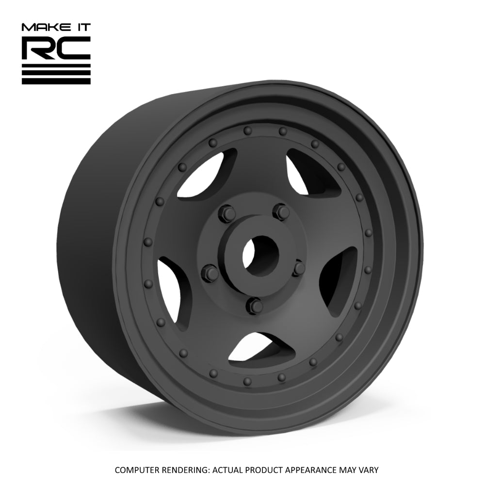 Make It RC Star 50 1/24.5 Scale Wheel 18x9mm M2 Shaft 4x1mm Hex OS -0.5mm BS 4mm