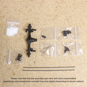 Make It RC 1/25 Scale MA10 Axle Assembly 53mm with 3-Link Suspension (kit)