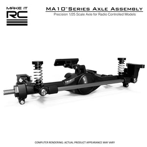 Make It RC 1/25 Scale MA10 Axle Assembly 53mm with 3-Link Suspension (assembled)