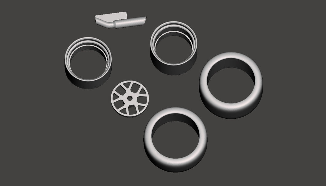 70 Chvelle Project Wheel and Tail Pipe Parts Pack