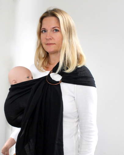 NEW !!! Mesh ring sling 100% organic - black & FREE BABY EINSTEIN: Baby MacDonald - A Day on the Farm DVD(rrp $22.95)