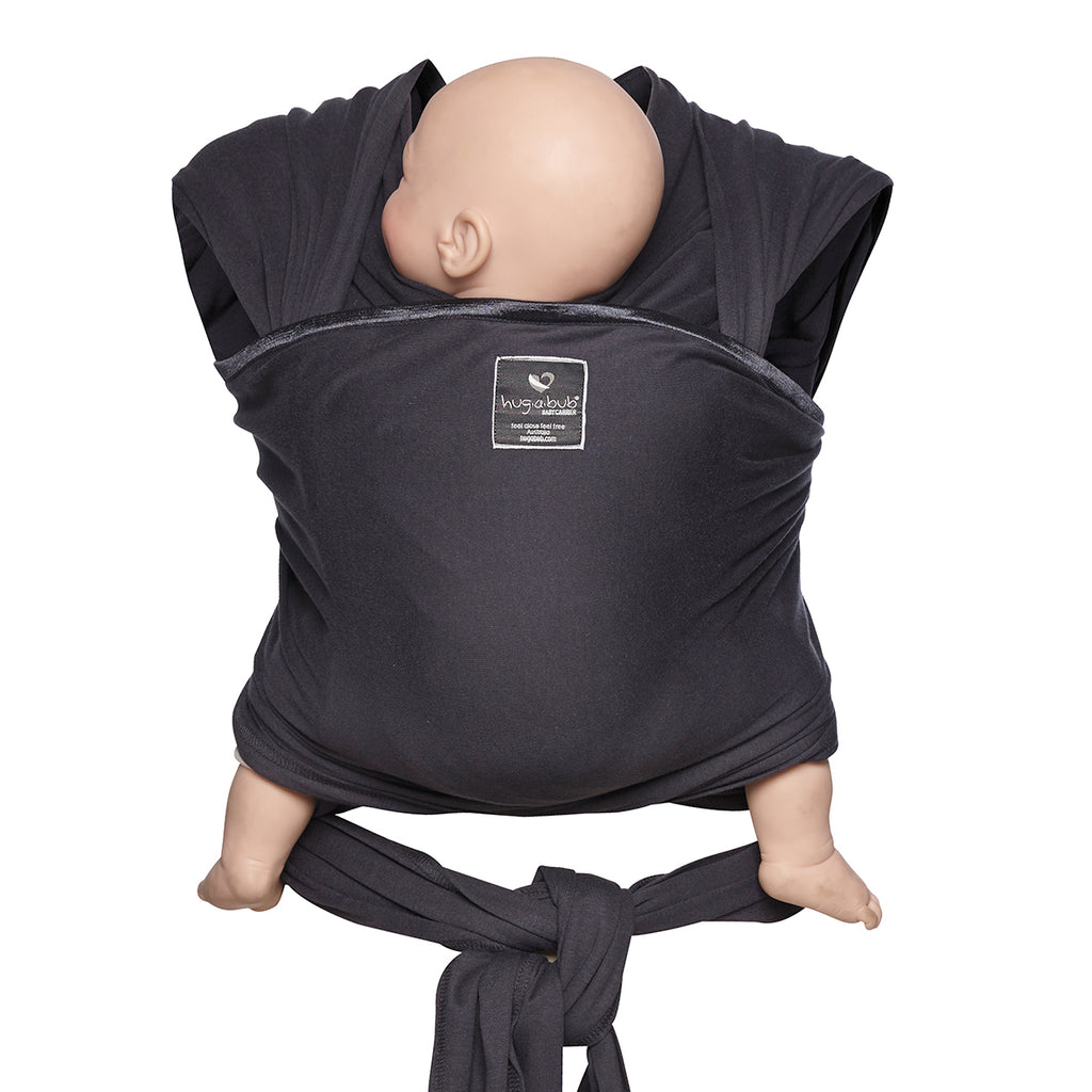 Lightweight wrap carrier 100% organic carrier - charcoal & FREE BABY EINSTEIN: Baby Beethoven - Symphony of Fun DVD (rrp $22.95)
