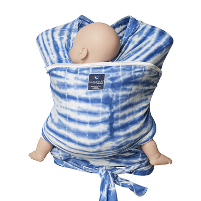 Lightweight wrap carrier 100% organic carrier - watercolour blue