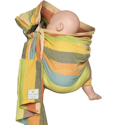 Mesh ring sling 100% organic - eucalyptus dreaming & FREE BABY EINSTEIN: Baby Beethoven - Symphony of Fun DVD (rrp $22.95)
