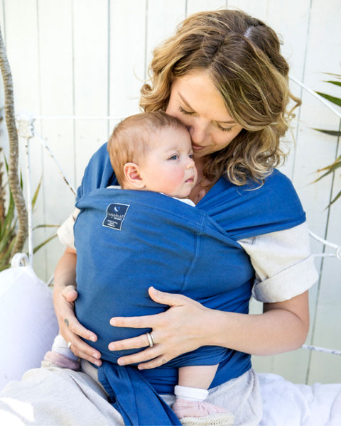 Pocket wrap carrier 100% organic carrier - byron blue & FREE BABY EINSTEIN: Baby Beethoven - Symphony of Fun DVD (rrp $22.95)