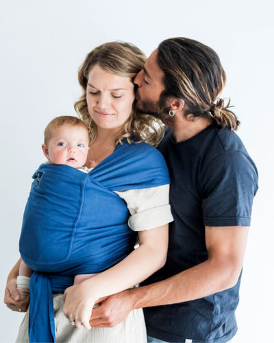 Pocket wrap carrier 100% organic carrier - byron blue