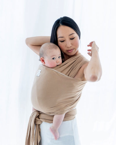 Lightweight wrap carrier 100% organic carrier - latte & FREE BABY EINSTEIN: Baby Beethoven - Symphony of Fun DVD (rrp $22.95)