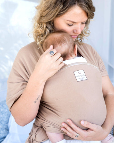 Lightweight wrap carrier 100% organic carrier - latte & FREE BABY EINSTEIN: Baby MacDonald - A Day on the Farm DVD (rrp $22.95)