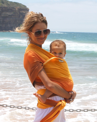 NEW ! Ombré Lightweight wrap carrier 100% organic carrier - sunset