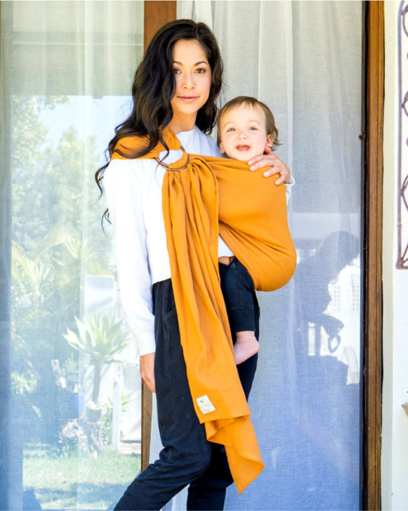NEW !!! Mesh ring sling 100% organic - earth
