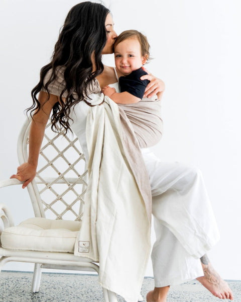 Reversible ring sling 100% organic - sand/stone - back in stock mid November