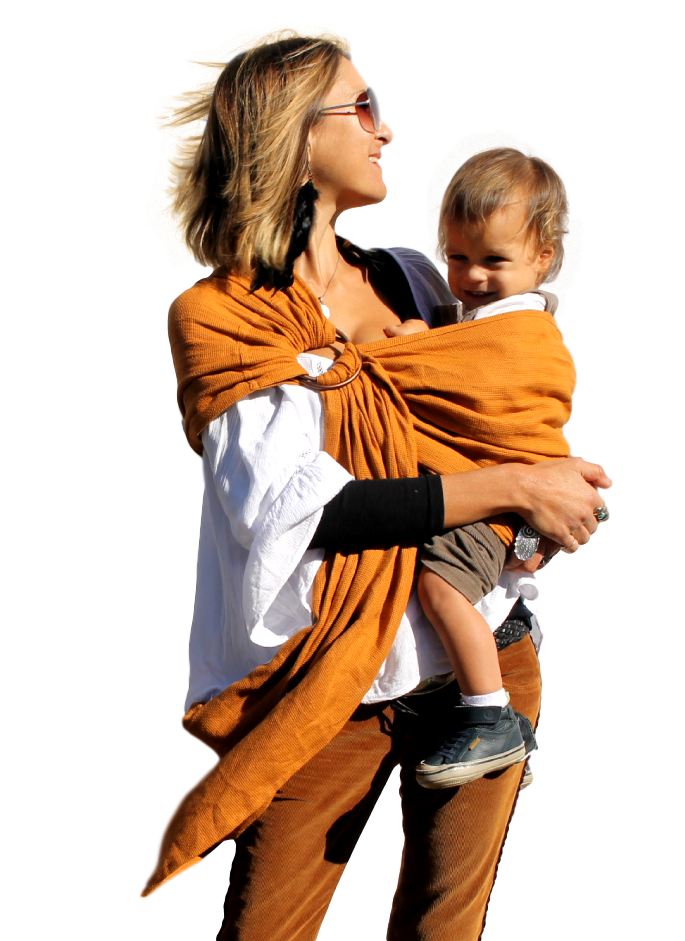 NEW !!! Mesh ring sling 100% organic - earth - back in stock December