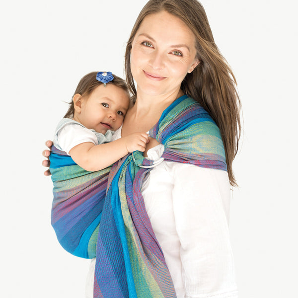 Mesh ring sling 100% organic - bondi blues