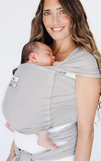Pocket wrap carrier 100% organic - SILVER GREY & FREE BABY EINSTEIN: Baby Beethoven - Symphony of Fun DVD (rrp $22.95)