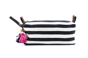 Beatnik Striped Beauty Bag