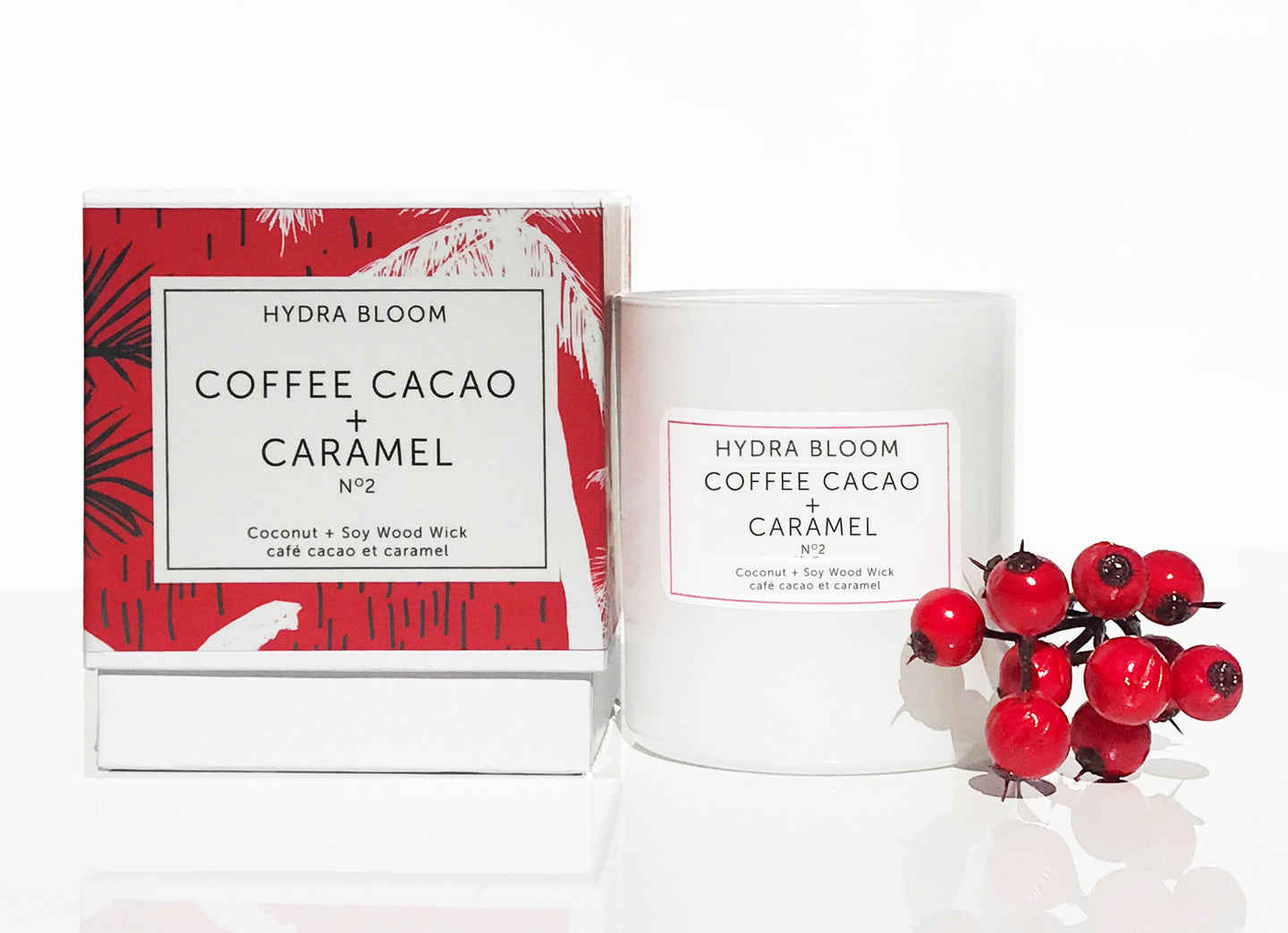 Hydra Bloom Coffee Cacao + Caramel Wood Wick Candle | Lucy B's