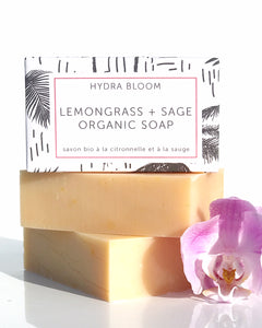Hydra Bloom Lemongrass + Sage Organic Soap | Lucy B's